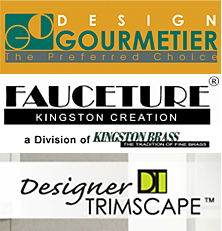 Kingston Brass will unveil their three new brands this year -- Fauceture, Gourmetier and Designer Trimscape.