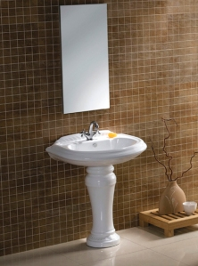 "The VPB3298 29"" Basin Console for 8"" Center Mounts with Pedestal Support"