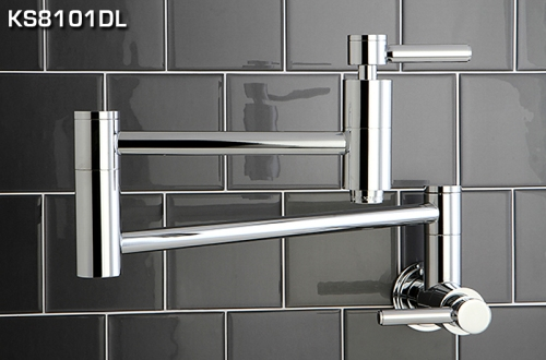 Kingston Brass' KS8101DL Pot Filler will make your kitchen look like it's fit for a chef.